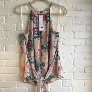 New with tags Parker Blouse Floral Halter Medium